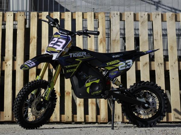 Motocicleta electrica Eco Tiger 1000W 36V 12/10 #Albastru 4