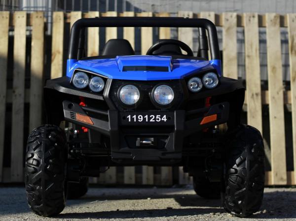 UTV electric pentru copii Golf-Kart 4x4 180W  PREMIUM #Albastru 1