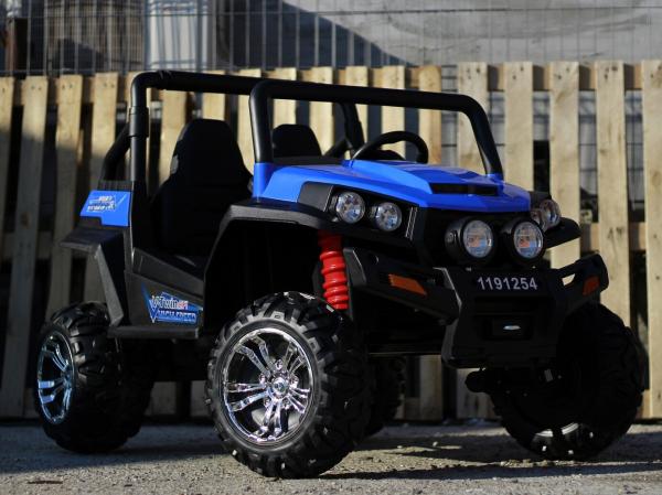 UTV electric pentru copii Golf-Kart 4x45W 2x12V PREMIUM #Albastru 2