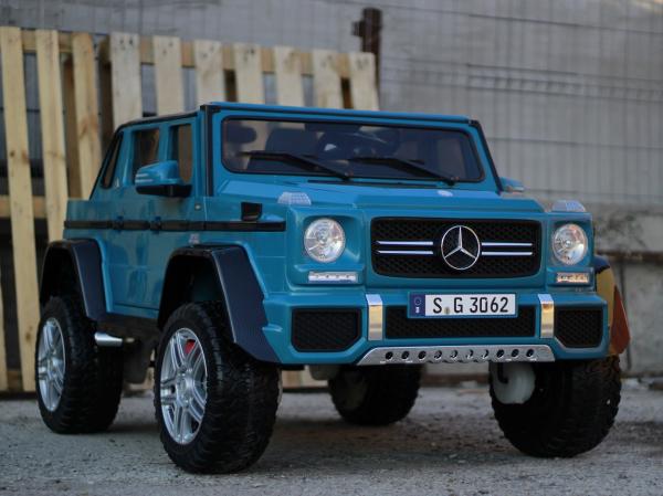Masinuta electrica Mercedes G650 180W MAYBACH DELUXE #Albastru 3