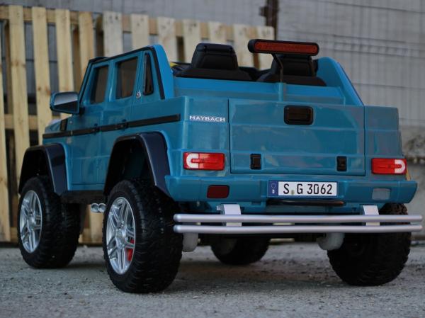 Masinuta electrica Mercedes G650 180W MAYBACH DELUXE #Albastru 5