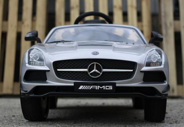 Masinuta electrica Mercedes SLS AMG PREMIUM #Silver 1