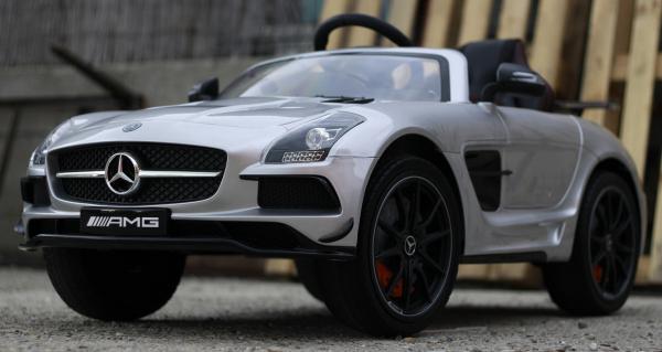 Masinuta electrica Mercedes SLS AMG PREMIUM #Silver 2