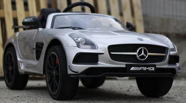Masinuta electrica Mercedes SLS AMG PREMIUM #Silver 3