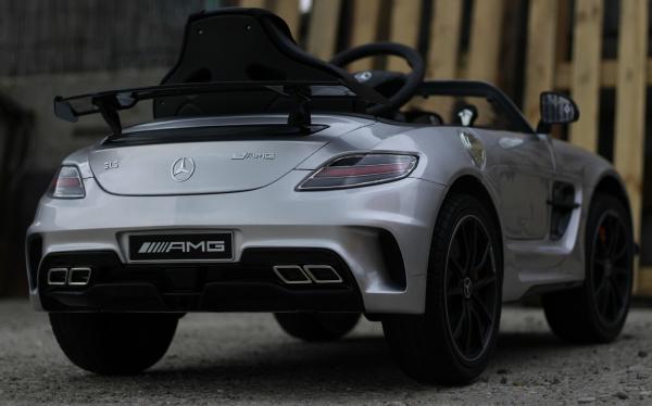 Masinuta electrica Mercedes SLS AMG PREMIUM #Silver 4