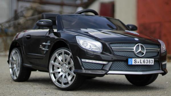 Masinuta electrica copii Mercedes SL63 AMG neagra 2