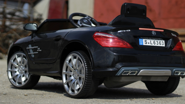 Masinuta electrica Mercedes SL63 AMG STANDARD 12V #Negru 4