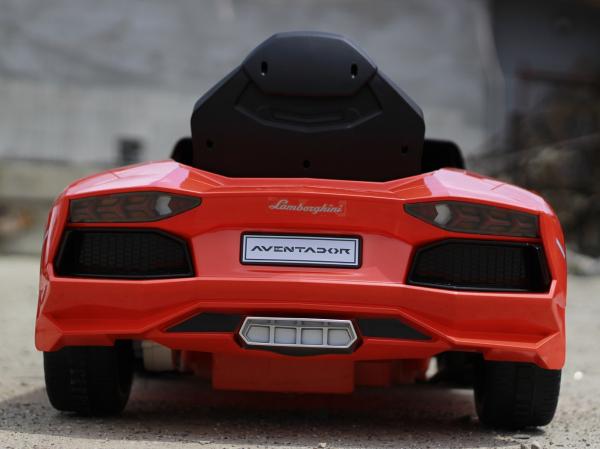 Masinuta electrica Lamborghini Aventador LP 700-4 STANDARD #Portocaliu 4
