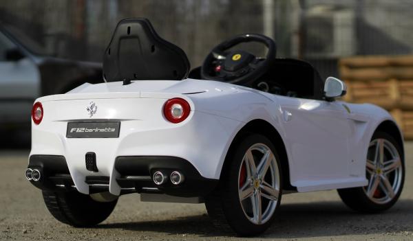 Masinuta electrica Ferrari F12 1x 25W STANDARD 12V #Alb 5