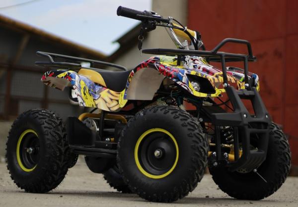 Mini ATV electric pentru copii NITRO Torino Quad 1000W 48V #Galben 2