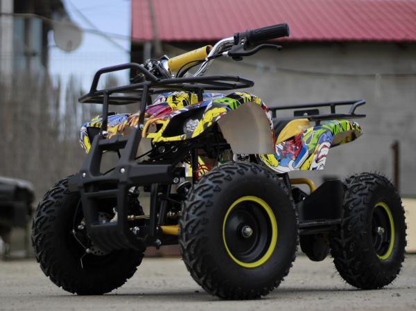 Mini ATV electric pentru copii NITRO Torino Quad 1000W 48V #Galben 3