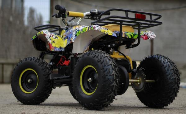 Mini ATV electric pentru copii NITRO Torino Quad 1000W 48V #Galben 4