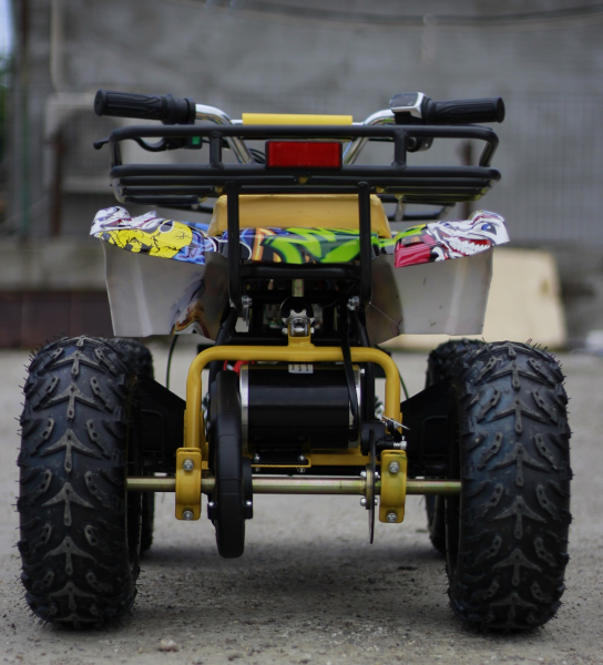 Mini ATV electric pentru copii NITRO Torino Quad 1000W 48V #Galben 5