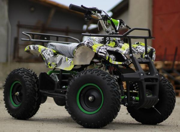 Mini ATV electric pentru copii NITRO Torino Quad 1000W 48V #Verde 2