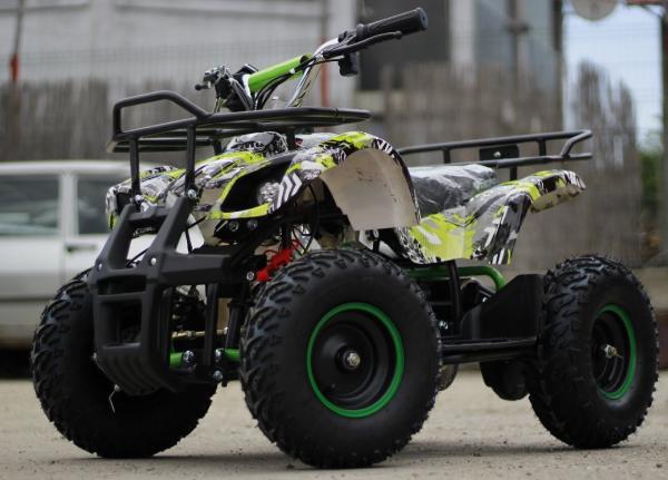 Mini ATV electric pentru copii NITRO Torino Quad 1000W 48V #Verde 3
