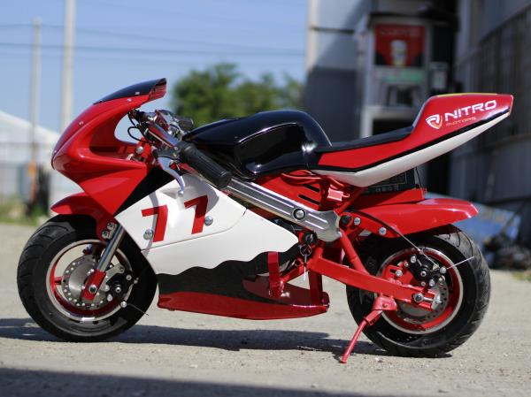 Mini Motocicleta electrica pentru copii NITRO Eco Pocket Bike 1000W #Rosu 2