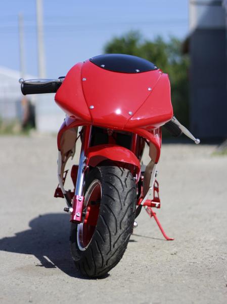 Mini Motocicleta electrica pentru copii NITRO Eco Pocket Bike 1000W #Rosu 4