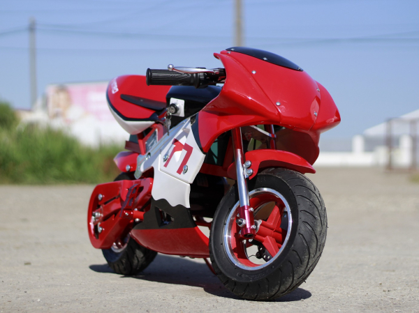 Mini Motocicleta electrica pentru copii NITRO Eco Pocket Bike 1000W #Rosu 5
