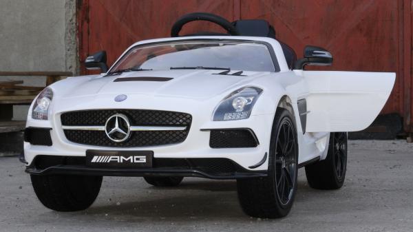 Masinuta electrica Mercedes SLS AMG PREMIUM #ALB 4