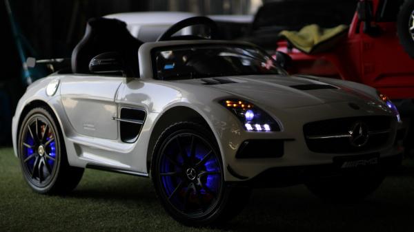 Masinuta electrica Mercedes SLS AMG PREMIUM #ALB 5