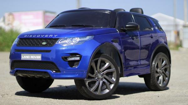 Masinuta electrica Land Rover Discovery DELUXE cu Touchscreen Mp4 #Albastru 2