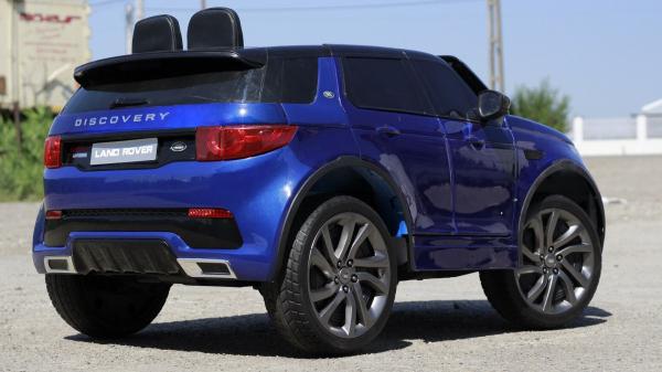 Masinuta electrica Land Rover Discovery DELUXE cu Touchscreen Mp4 #Albastru 4