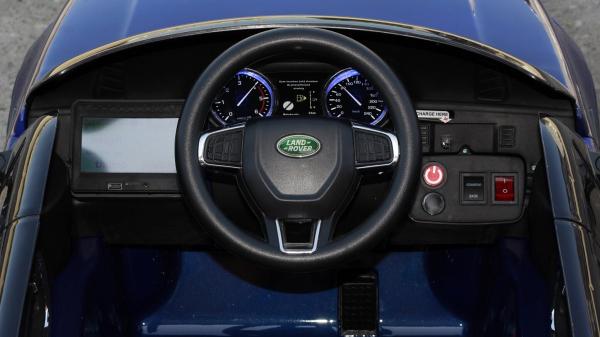 Masinuta electrica Land Rover Discovery DELUXE cu Touchscreen Mp4 #Albastru 5
