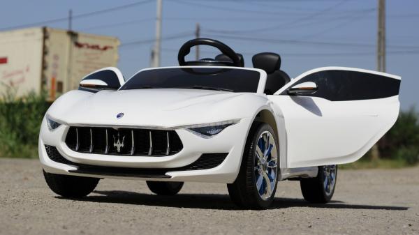 Masinuta electrica Maserati Alfieri CU ROTI MOI 12V 2x35W #Alb 2