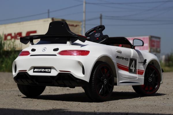 Masinuta electrica Mercedes GT-R 2x25W STANDARD #Alb 4