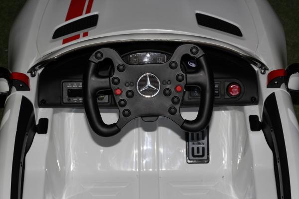 Masinuta electrica Mercedes GT-R 2x25W STANDARD #Alb 5