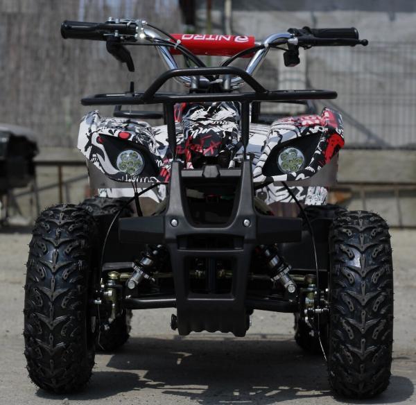 Mini ATV electric pentru copii NITRO Torino Quad 1000W 48V #Alb 1
