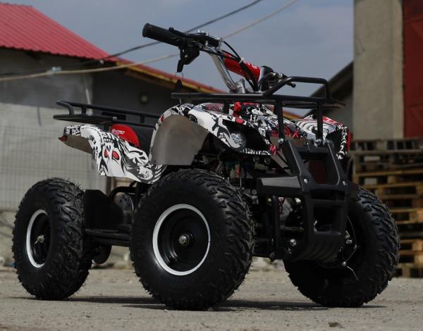 Mini ATV electric pentru copii NITRO Torino Quad 1000W 48V #Alb 2