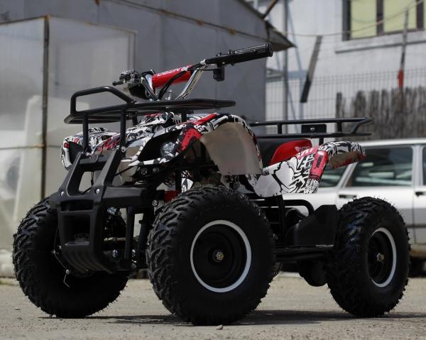 Mini ATV electric pentru copii NITRO Torino Quad 1000W 48V #Alb 3