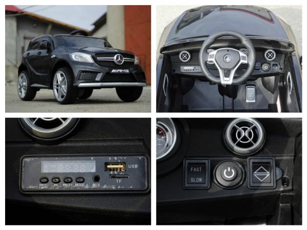 Masinuta electrica Mercedes A45 AMG PREMIUM 12V #Negru 7