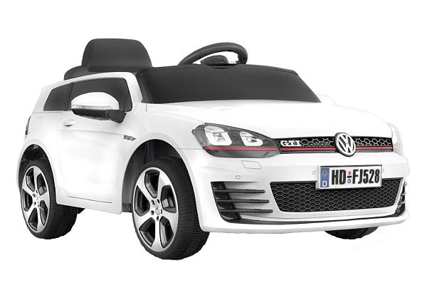 Masinuta electrica pentru copii VW Golf GTI, alb 0