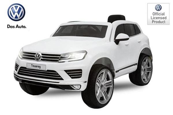 Masinuta electrica VW Touareg CU ROTI MOI 2x 35W 12V #ALB 0