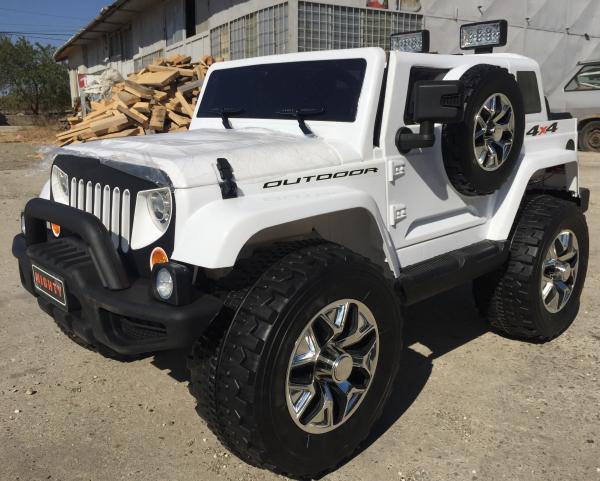 Masinuta electrica copii 2-7 ani Jeep Outdoor, alb [4]