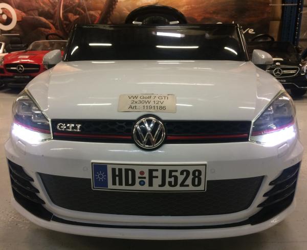 Masinuta electrica pentru copii VW Golf GTI, alb 3