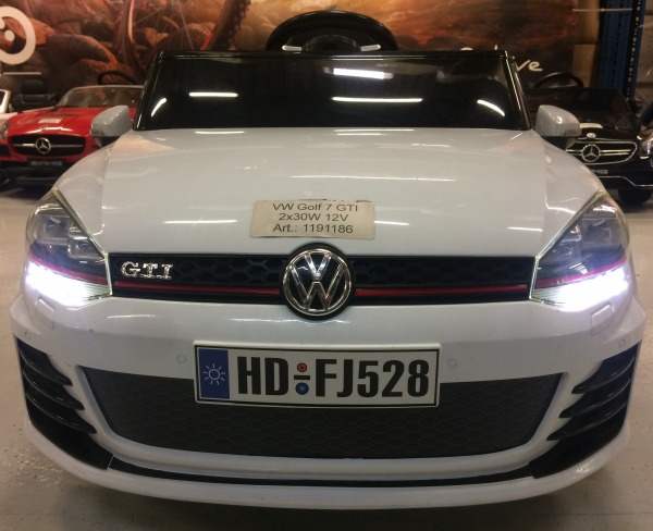 Masinuta electrica VW Golf GTI 2x30W 12V STANDARD #ALB 3
