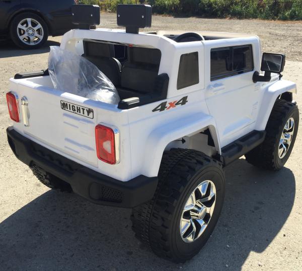 Masinuta electrica copii 2-7 ani Jeep Outdoor, alb [3]