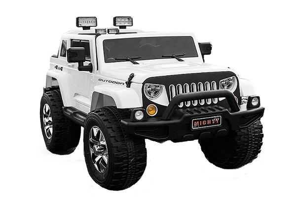 Masinuta electrica copii 2-7 ani Jeep Outdoor, alb [0]