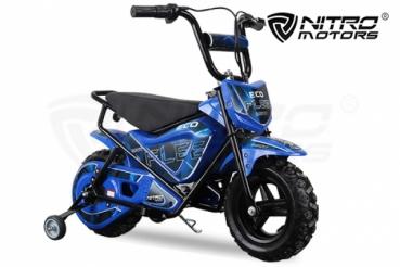 Mini Motocicleta electrica pentru copii NITRO ECO Flee 250W #Albastru 1