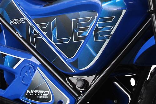 Mini Motocicleta electrica pentru copii NITRO ECO Flee 250W #Albastru 2