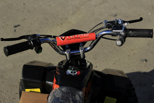 ATV electric Deluxe ECO Maddox 800W 36V cu 3 Viteze #Portocaliu 5