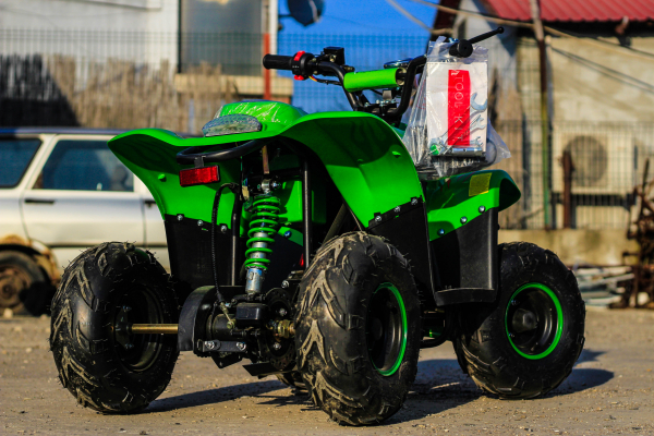 ATV electric ECO Bigfoot 800W 36V cu Baterie Detasabila #Verde 5