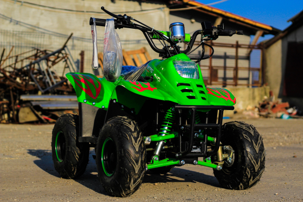 ATV electric ECO Bigfoot 800W 36V cu Baterie Detasabila #Verde 1