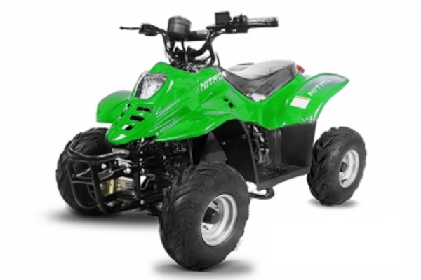 ATV electric ECO Bigfoot 800W 36V cu Baterie Detasabila #Verde 0