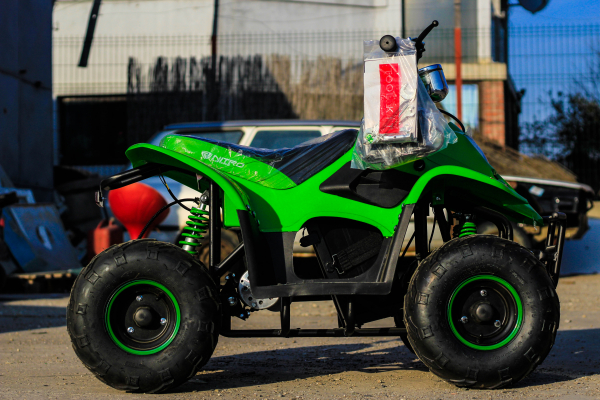 ATV electric ECO Bigfoot 800W 36V cu Baterie Detasabila #Verde 6