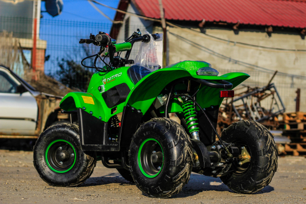 ATV electric ECO Bigfoot 800W 36V cu Baterie Detasabila #Verde 4