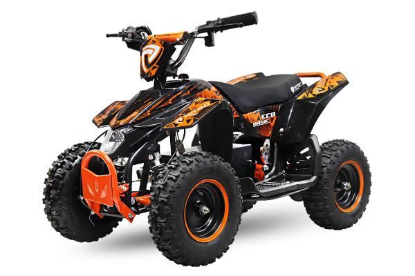 ATV electric Deluxe ECO Maddox 800W 36V cu 3 Viteze #Portocaliu 0